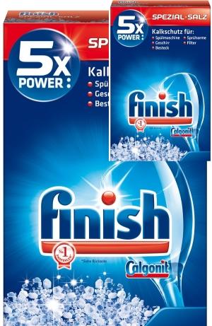 muối rửa bát finish calgonit 5x power 1.2kg chuyên dùng cho máy rửa bát