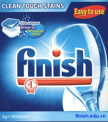viên rửa bát chén finish chính hãng 180 tabs dùng cho máy rửa bát chén nội địa ( 6 bộ loại nhỏ )