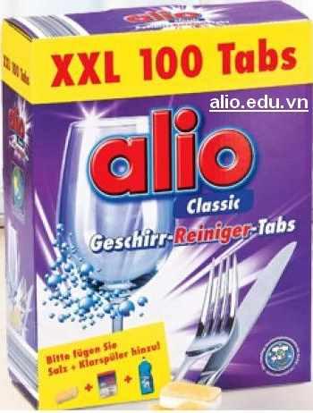 Viên rửa bát Alio 100 tabs nhập khẩu từ Đức