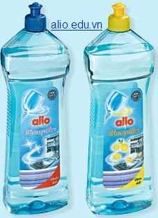 dung dịch nước làm bóng bát alio nhập khẩu đức chuyên dùng cho máy rửa bát