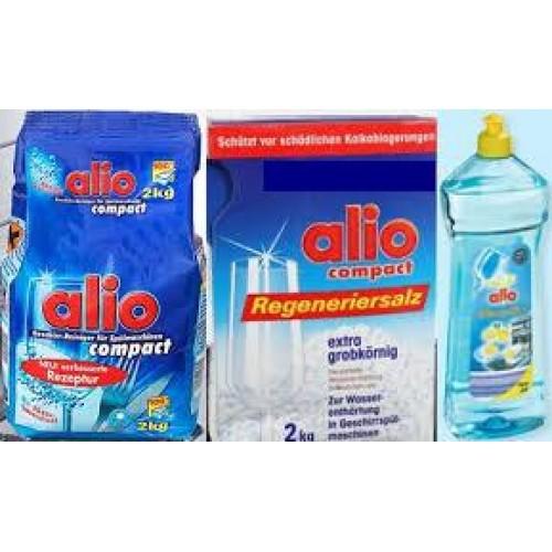 Sử dụng muối alio rửa chén để loại bỏ các ion có hại và giảm đóng cặn máy