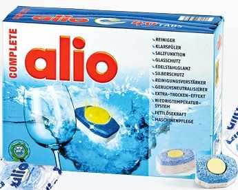 viên rửa bát chén alio 80 tabs chuyên dùng cho máy rửa bát chính hãng