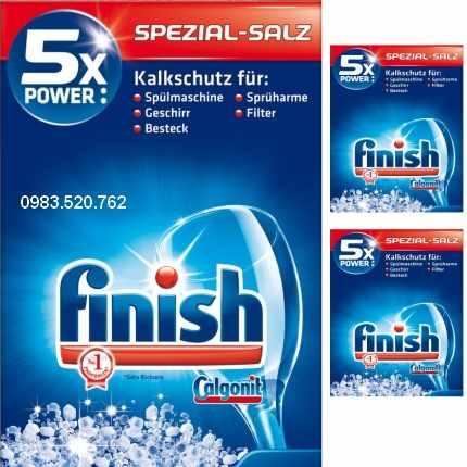 Muối rửa chén finish chuyên dụng đảm bảo độ sáng bóng nguyên bản trên thủy tinh và đồ sứ