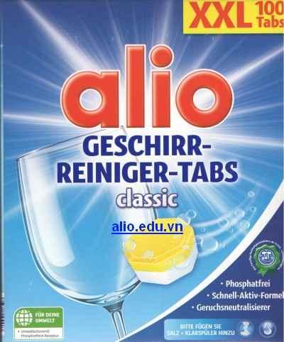 viên rửa bát alio mới XXL 100 tabs ( màu xanh )