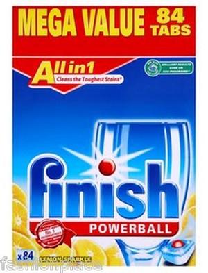 Viên rửa chén Finish all in one 84 viên diệt khuẩn và làm bóng bát đĩa